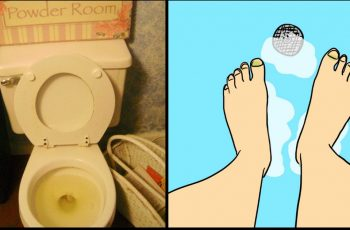 peeing in bath